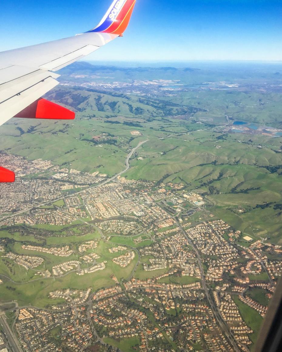 Flight to California Plane Shot
