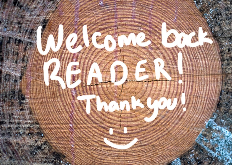 Welcome Back Reader!