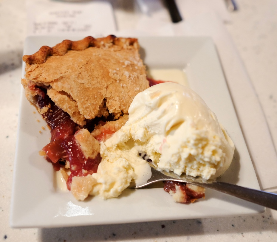 The Strawberry and Rhubarb pie from Koffee Kup in Stoughton, Wisconsin